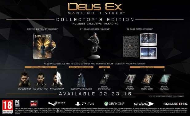 Deus Ex- Mankind Divided Special edition