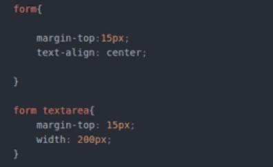 נוסיף margin-top ל form ול textarea כדי להרחיק את הגבול עליון שלהם מהאלמנט אשר מעליהם