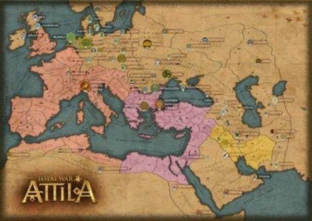 המפה של Total War Attila