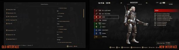 The Witcher 3 UI Old vs NEW (2)