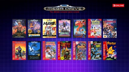 Das Line-up für Sega Mega Drive.