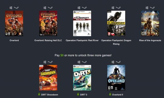 Humble Bundle Weekly Sale Mit Sieben Codemasters Spielen
