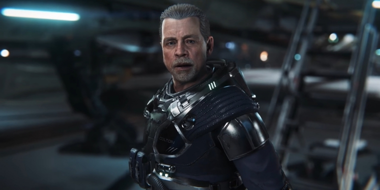 Mark Hamill spielt Old Man Colton in Squadron 42.