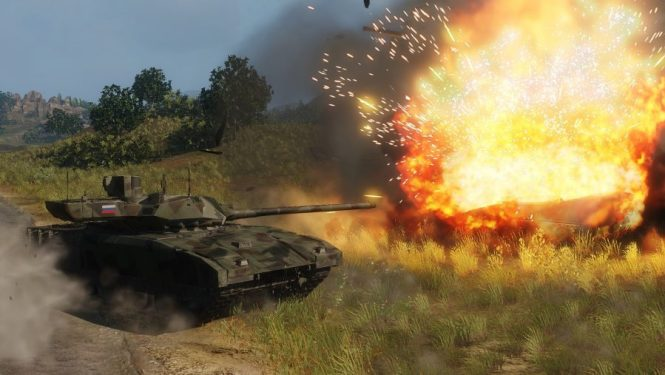 Fire and destruction in one of the best tank games: Armored Warfare
