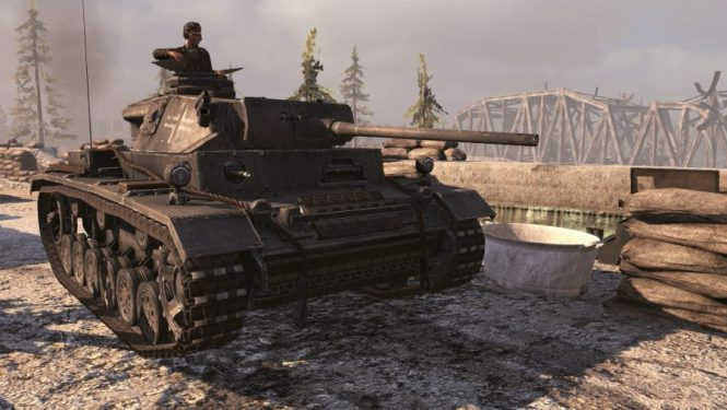 A man in a tank in one of the best tank games: Red Orchestra 2