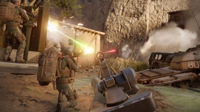 Your squad focuses their fire in Insurgency: Sandstorm, one of the best sniper games