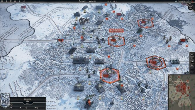 Tanks approach snowy Moscow in one of the best tank games, Panzer Corps 2