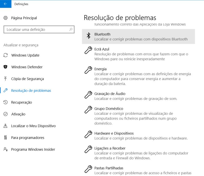 Actualização para Criativos Windows 10