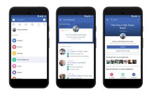 Facebook anuncia o centro de Resposta à Crise