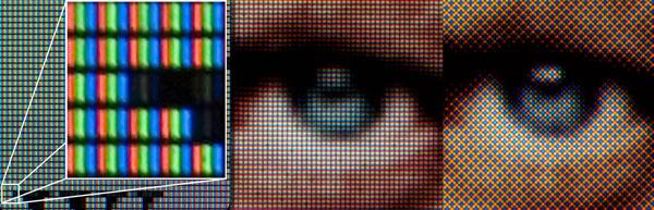 RGB sub pixels