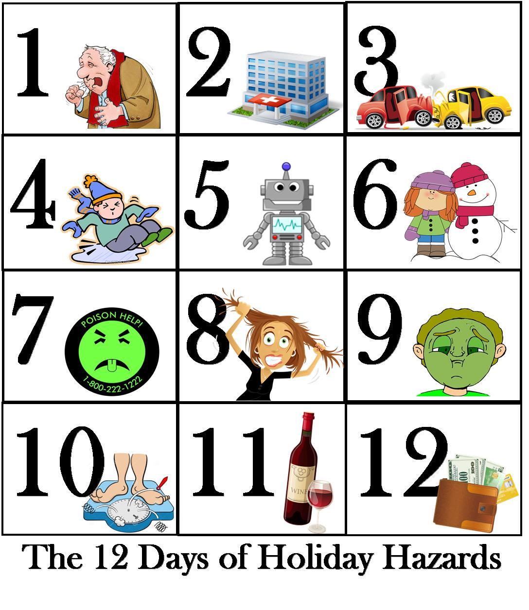 hight resolution of  12 days xmas hazards