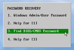 bios password recover