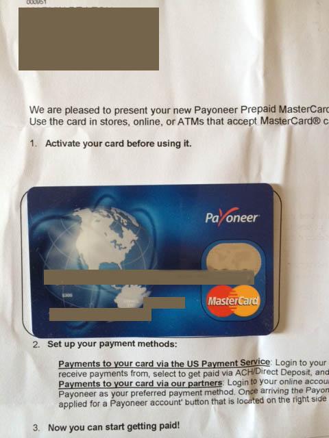 Payoneer-Master Card