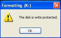 Write protect usb deviced