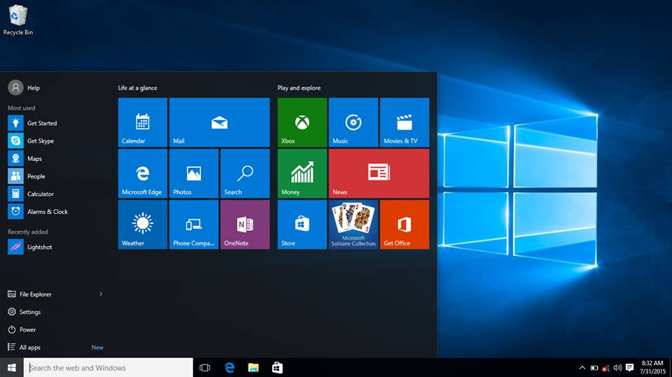 Windows 10 looking