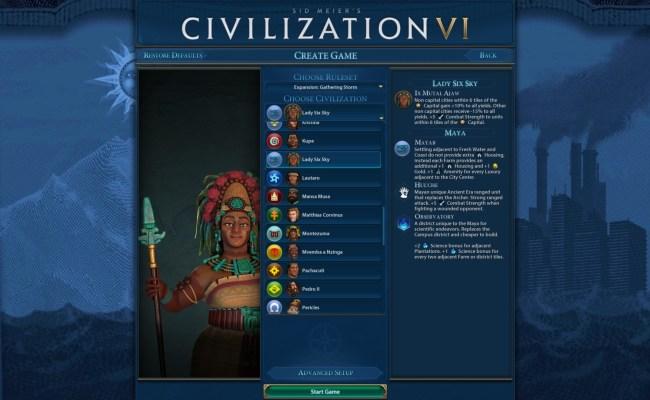 Civilization Vi New Frontier Pass Maya Deity Guide Pc