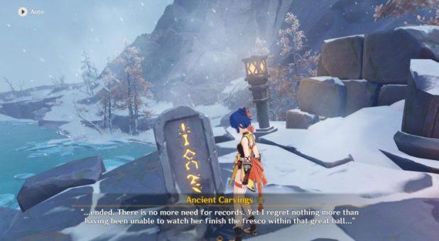 Genshin Impact Stone Tablet Location Snow Tomed Starsilver 1