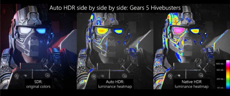 PC con HDR automático de Microsoft