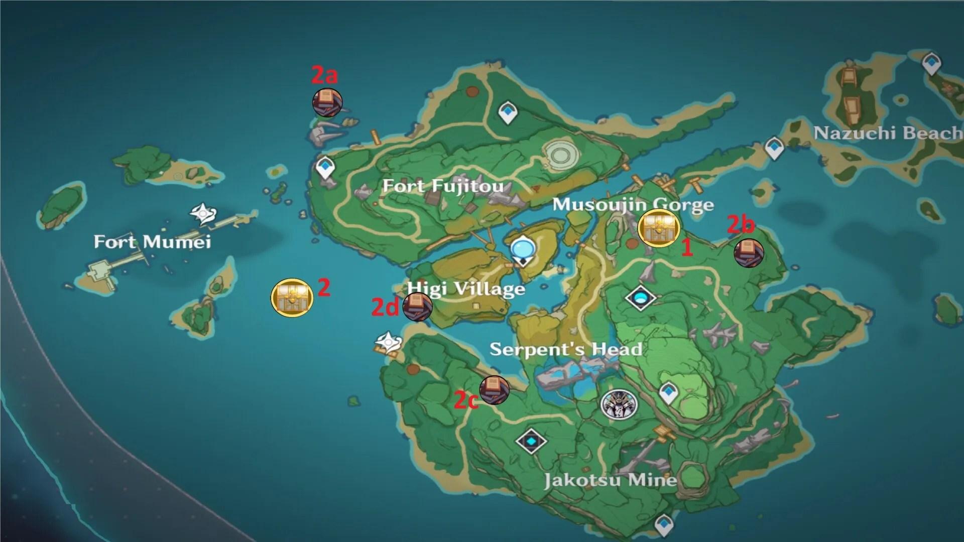 Yashiori island 0 / 115. Genshin Impact Yashiori Island Luxurious Chest Locations Guide
