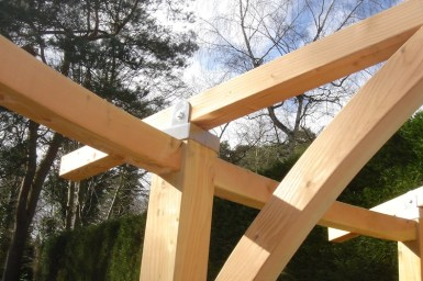 Timber pergola in Farnham