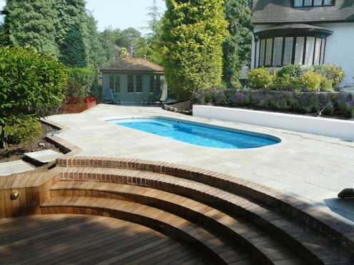 Timber decking in Fleet