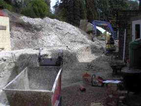 Walls in Guildford excavation