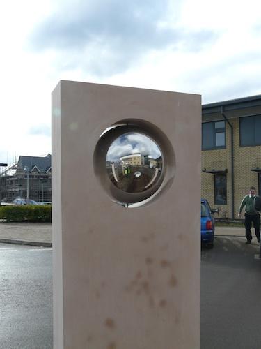Hospital roundabout sculpture