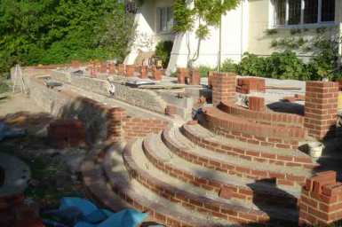 Construction of steps in Surrey