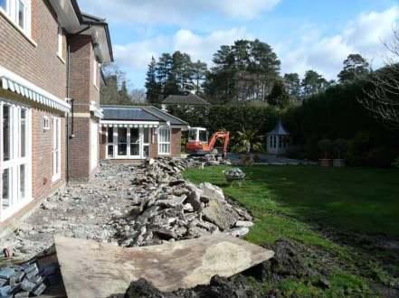 Excavation for Travertine paving