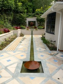 Rill water feature Haslemere