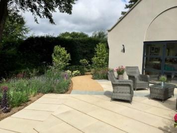 Sandstone paving & planting Haslemere