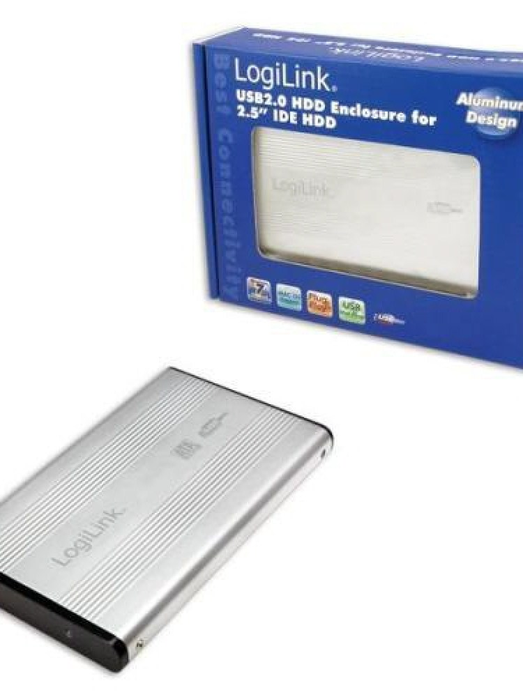 Logilink HDD ENCLOSER;IDE  la USB 2.0, Aluminiu UA0040A