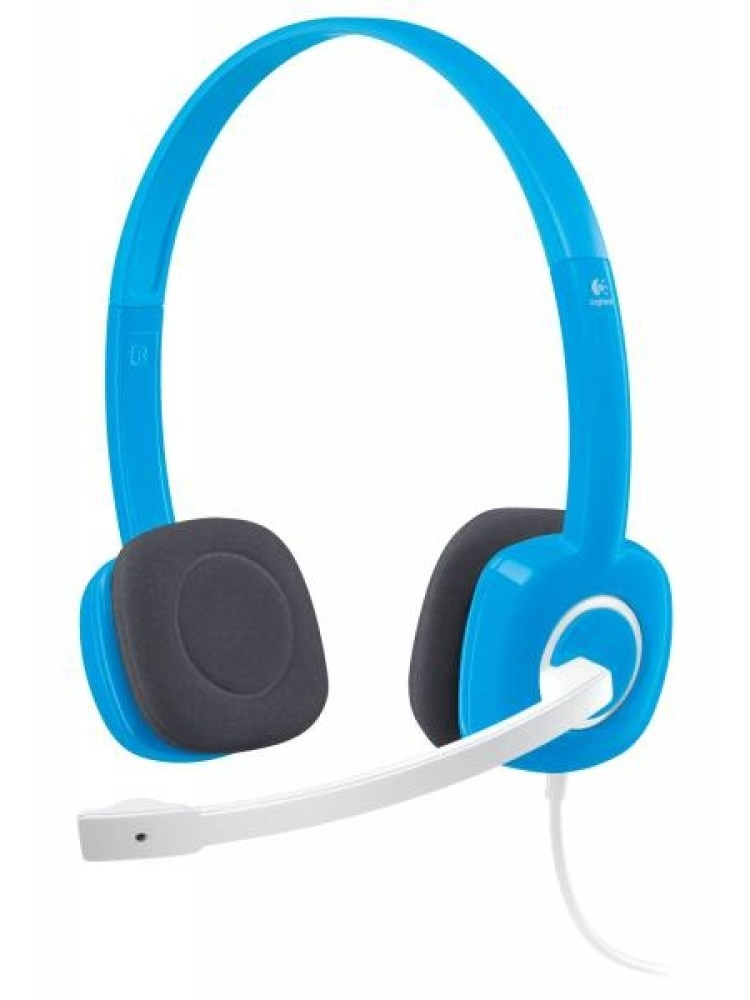Casti Logitech  'H150' Stereo Headset with Microphone, Sky Blue '981-000368'  (include timbru verde 0.01 lei)