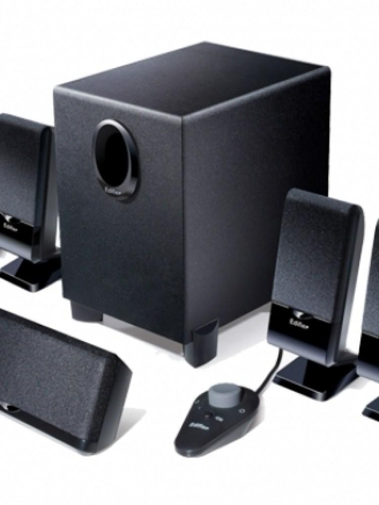 BOXE 5.1 EDIFIER, RMS:  26W (3Wx4 + 4W + 10W), black, telecomanda pe fir, iesire casti 'M1550'  , BOXM1550  674669001001  (include timbru verde 1 leu)