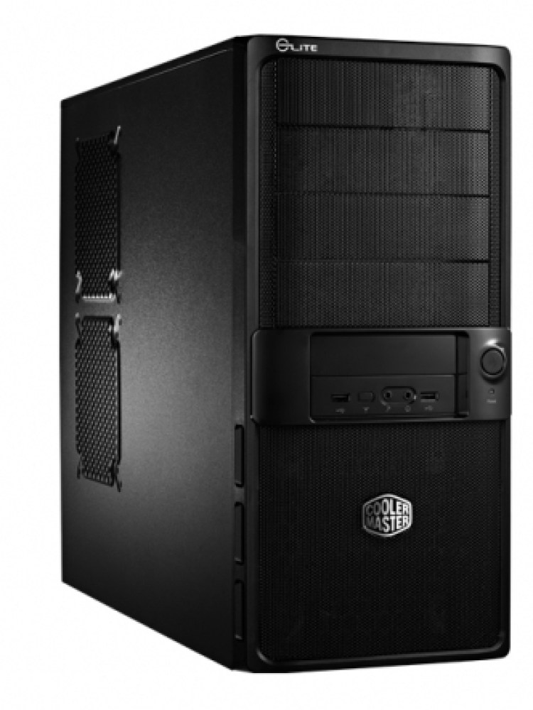 CARCASA COOLER MASTER  Elite. 335U, mid-tower, ATX, 1* 120mm fan (inclus), I/O panel, black 'RC-335U-KKN1'