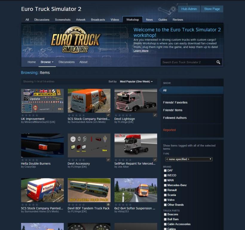 Euro Truck Simulator 2 y American Truck Simulator 22