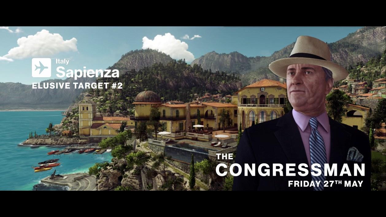 objetivo escurredizo de hitman El Congresista_Hitman