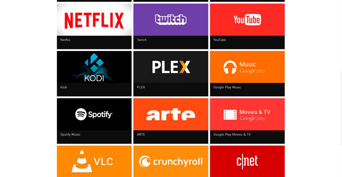 apps - nvidia shield tv