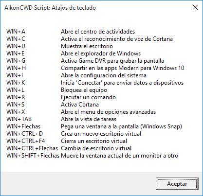 atajos windows 10