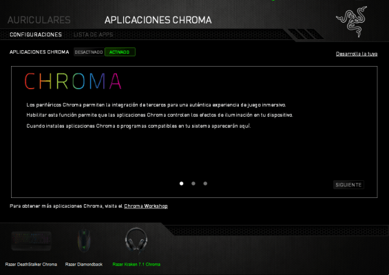 razer kraken 7.1 Chroma apps