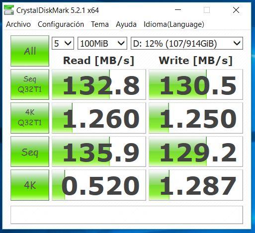 MSI GE62 7RE Apache Pro Análisis CrystalDiskMark HDD