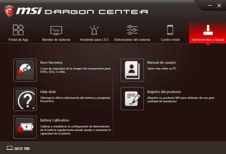 MSI GE72 Apache Pro - MSI DRAGON CENTER (6)