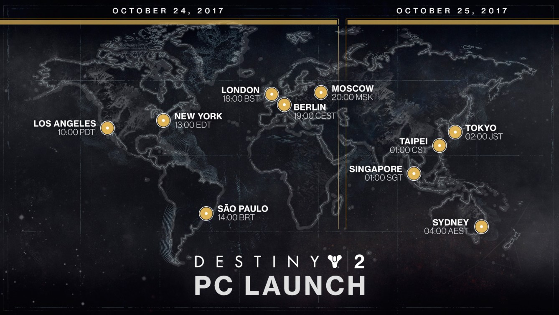 lanzamiento de Destiny 2