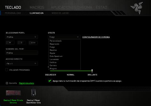 Destiny 2 Razer Ornata Chroma