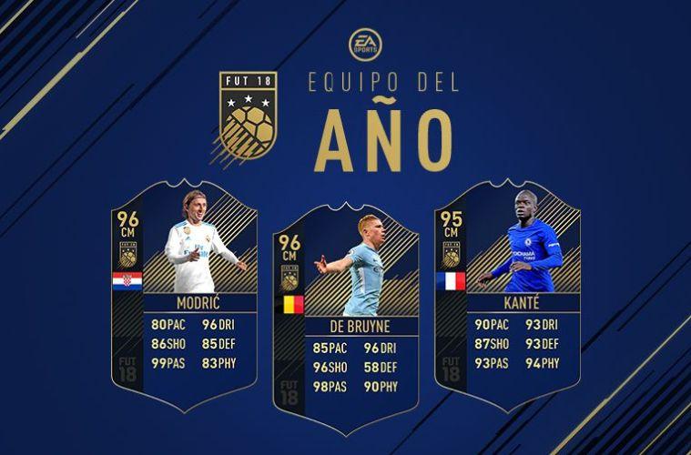 mejores centrocampistas del año en FIFA 18