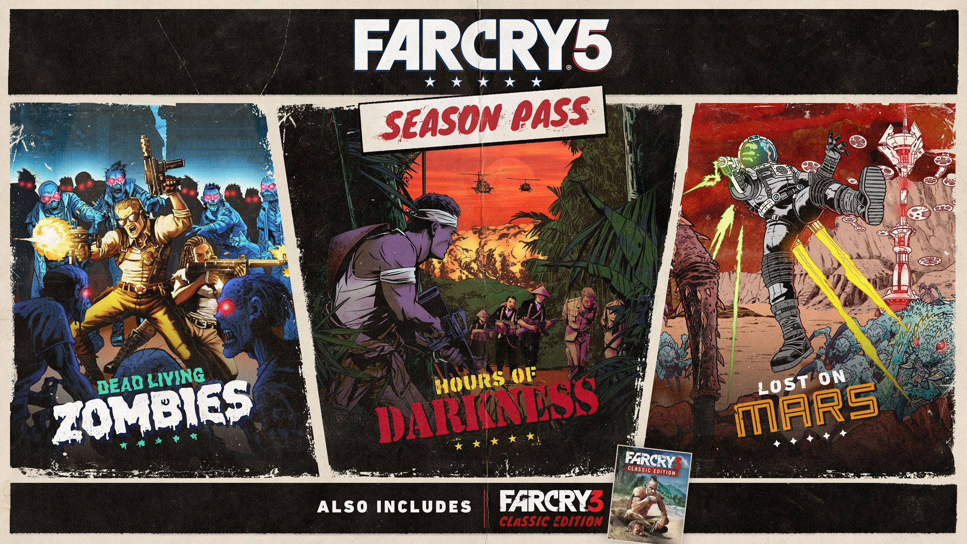 contenido del Season Pass de Far Cry 5