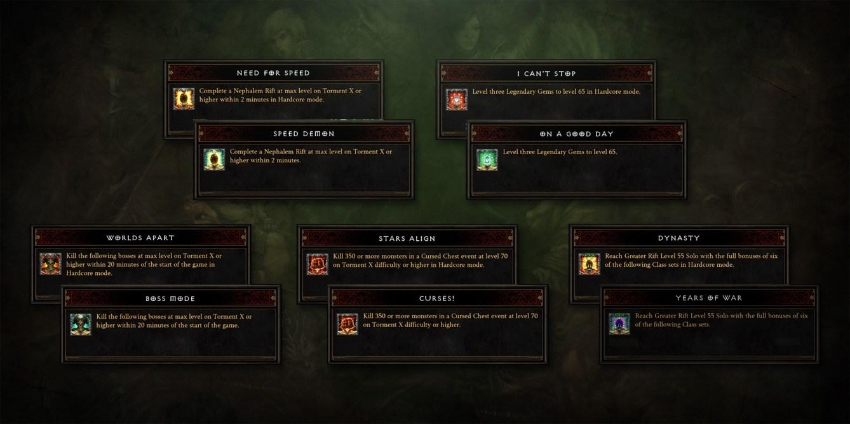 Diablo III Conquistas de temporada