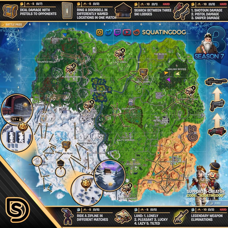 Fortnite Mapa Semana 3 Temporada 7