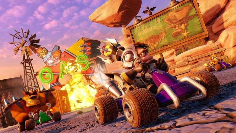 tráiler de lanzamiento de Crash Team Racing