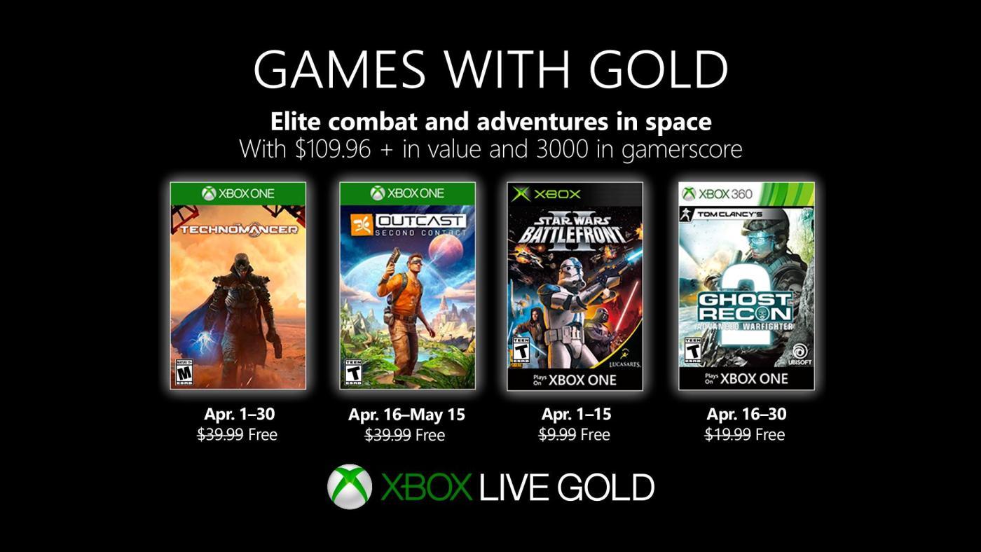 Xbox Gold Abril 2019